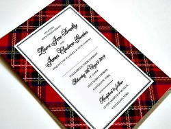 Royal Stewart Tartan Scottish Wedding invitations