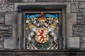 The Scottish Coat of Arms featuring two Unicorns