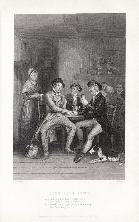 Auld Lang Syne: John Masey Wright, John Rogers, Robert Burns. Wikimedia Commons.