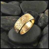 Celtic knot Lorn Ring, gold wedding band