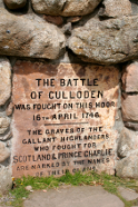 Memorial to the Battle of Culloden, 1746
