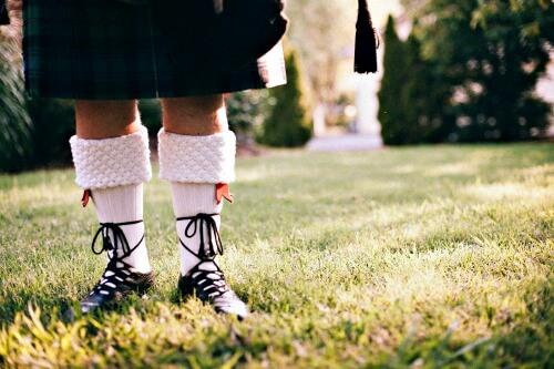 Scottish kilt, socks
