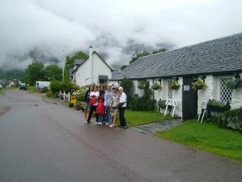Our family at Glencoe, Scottish Highlands