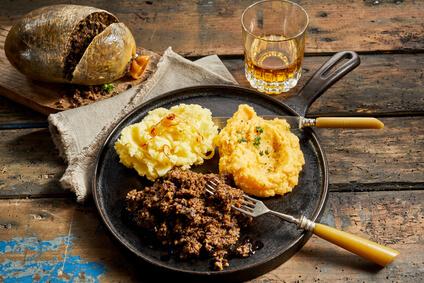 Traditional Scottish Hogmanay food