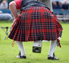 Man wearing a kilt at the Scottish Highland Games