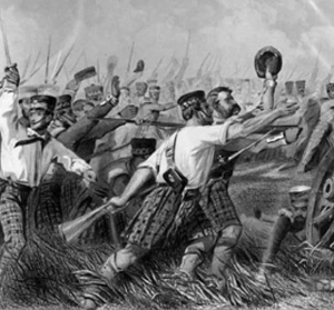 Scottish Highland Regiment in battle overseas