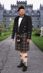 Modern-day Highlander wearing kilt 21st century