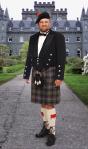 Modern-day Highlander wearing kilt 21st century