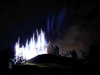 Hogmanay fireworks over Edinburgh Castle