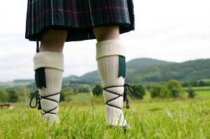 Scottish kilt clan tartan