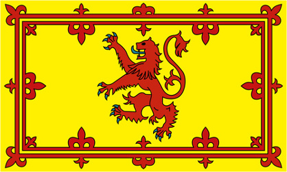 The 'Lion Rampant' Scotland's Royal Flag