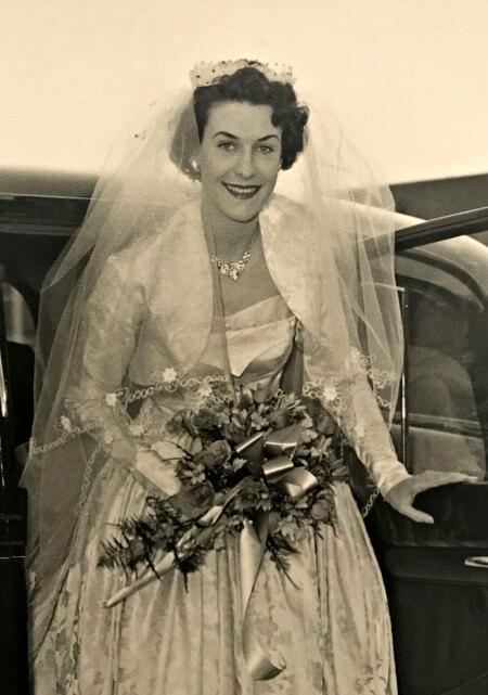 b5316d8a1c6 My mom on her wedding day in Glasgow