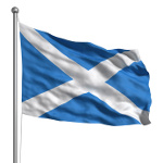 Scottish Saltire flag