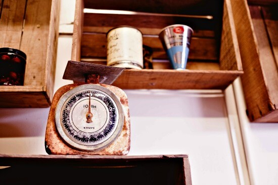 Antique scales for baking