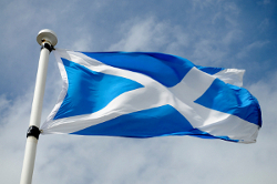 National flag of Scotland, the Saltire