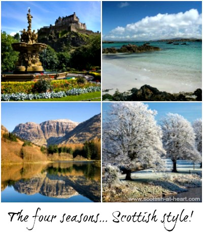 The four seasons of weather in Scotland