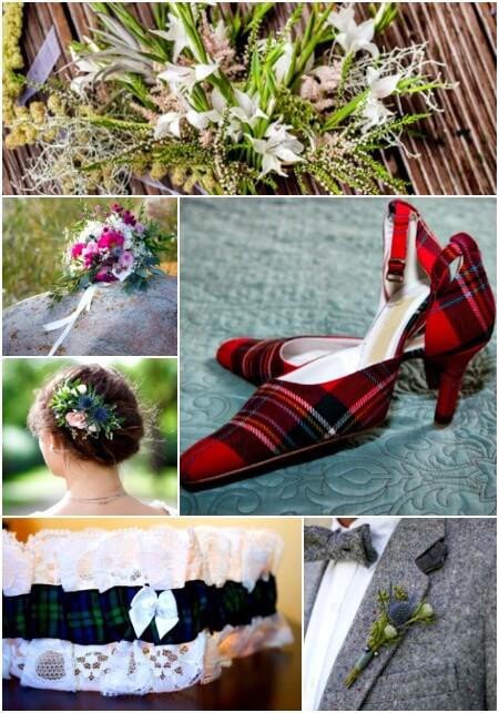 Scottish wedding design elements