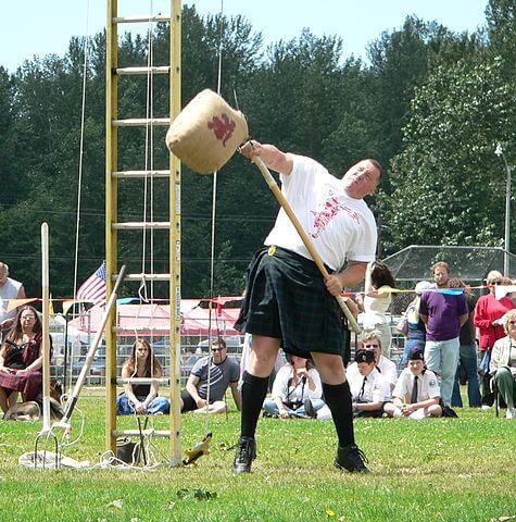 Sheaf Toss at Highland Games