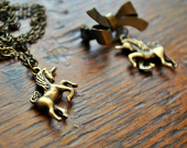 Scottish Unicorn Necklace or Brooch