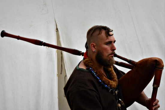 Viking with bagpipes