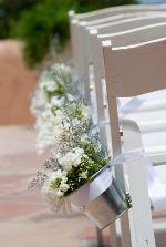 White Scottish Heather wedding decor