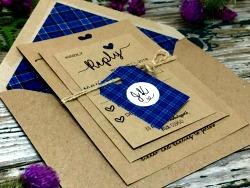 Tartan Scottish wedding invitations