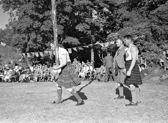 Scottish Highland Games, Isle of Skye, 1934, public domain image
