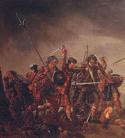 Clans fighting at the Battle of Culloden, 1746
