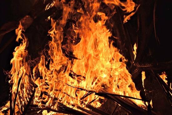 Hogmanay bonfire