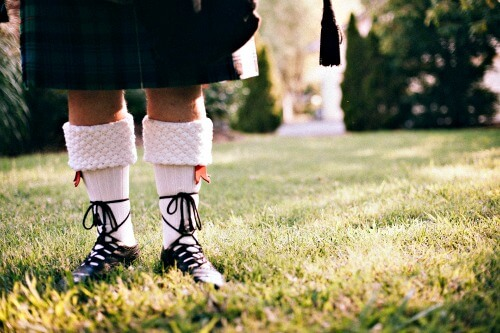 Traditional Scottish Kilt and footwear
