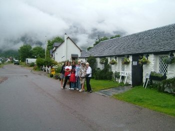 Our family at Glencoe, Scottish Highlands