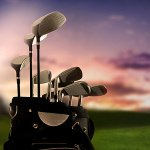 Golf clubs for playing golf in Scotland