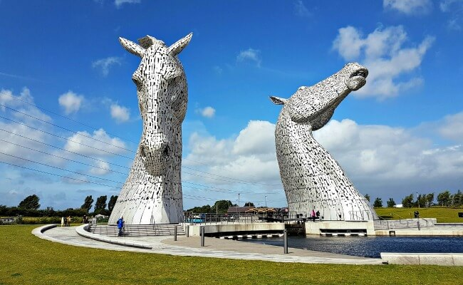 Kelpies in Falkirk, Scottish monument