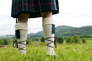 Scottish kilt clan tartan
