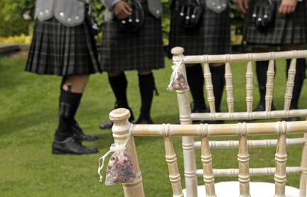 Kilt wearing at Scottish wedding