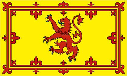 The 'Lion Rampant' Scotland's Royal Flag