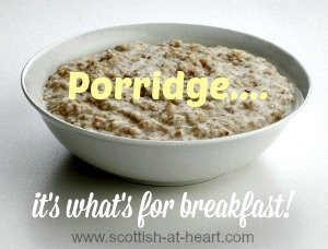 Bowl of authentic Scottish porridge