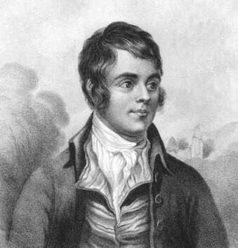 Vintage illustration of Scottish bard Robert Burns