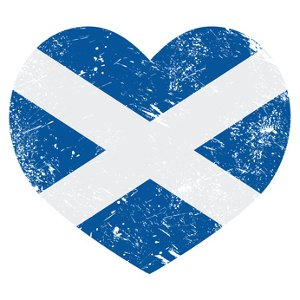 Saltire flag in shape of a heart