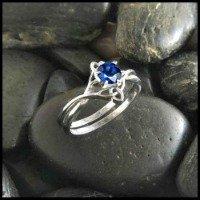Celtic sapphire engagement ring