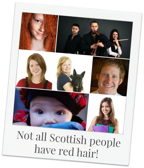 Possible hair, eye, skin coloring of Scottish people