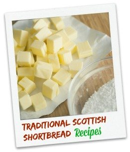 Ingredients for traditional Scottish shortbread