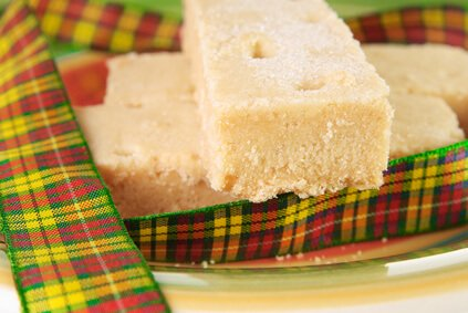 Traditional Scottish shortbread bars