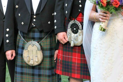 Scottish wedding party