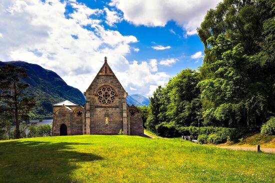 Small church in Scotland