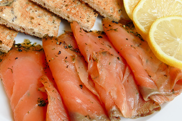 Scottish smoked salmon. Delicious.